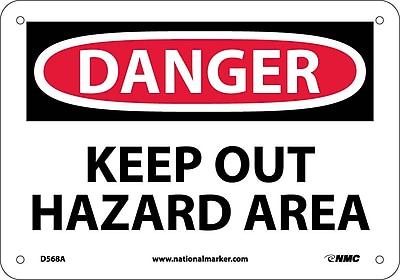 Danger, Keep Out Hazard Area, 7X10, .040 Aluminum