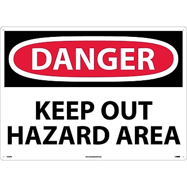 Danger, Keep Out Hazard Area, 20