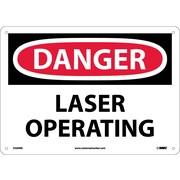 Danger, Laser Operating 10X14, Rigid Plastic