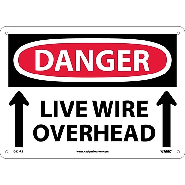 Danger, Live Wire Overhead, Up Arrow, 10