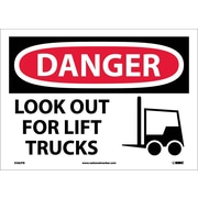 Danger, Look Out For Lift Trucks, Graphic, 10X14, Adhesive Vinyl