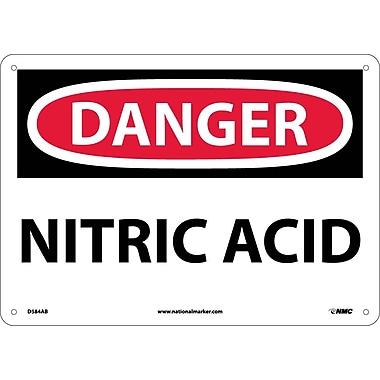 Danger, Nitric Acid, 10X14, .040 Aluminum