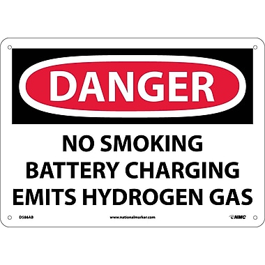 Danger, No Smoking Battery Charging Emits Hydrogen Gas, 10