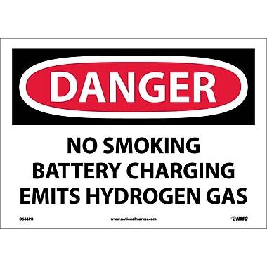 Danger, No Smoking Battery Charging Emits Hydrogen Gas, 10