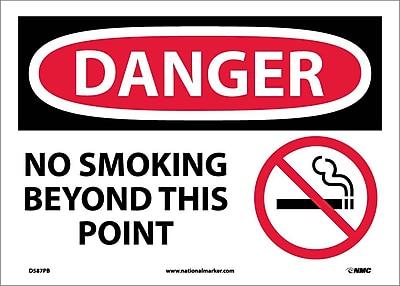 Danger, No Smoking Beyond This Point, Graphic, 10X14, Adhesive Vinyl