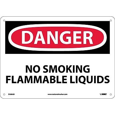Danger, No Smoking Flammable Liquids, 10X14, .040 Aluminum