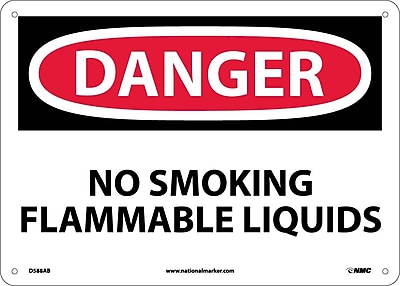 Danger, No Smoking Flammable Liquids, 10X14, .040 Aluminum