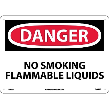 Danger, No Smoking Flammable Liquids, 10