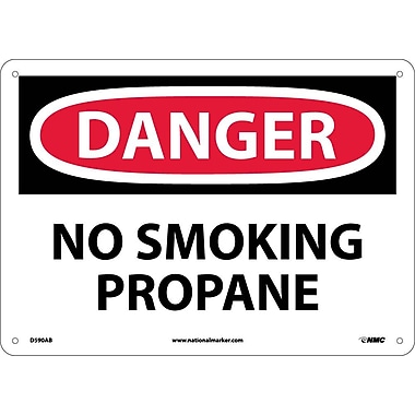 Danger, No Smoking Propane, 10X14, .040 Aluminum