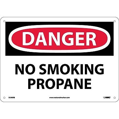 Danger, No Smoking Propane, 10X14, Rigid Plastic