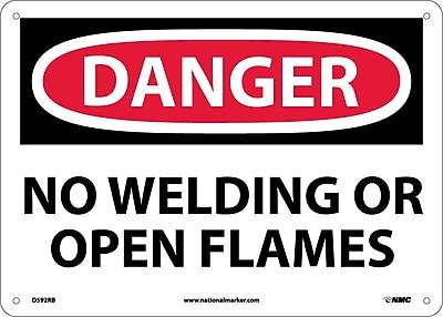 Danger, No Welding Or Open Flames, 10X14, Rigid Plastic