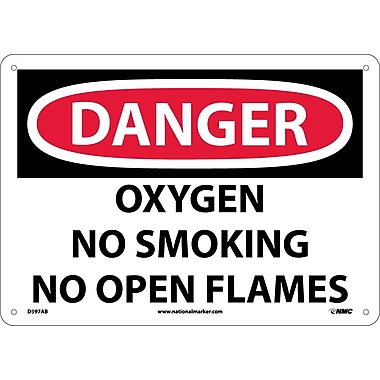 Danger, Oxygen No Smoking No Open Flames, 10