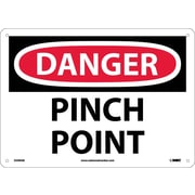 Danger, Pinch Point, 10X14, .040 Aluminum