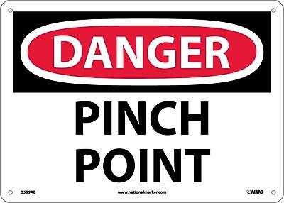 Danger, Pinch Point, 10X14, .040 Aluminum
