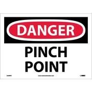 Danger, Pinch Point, 10X14, Adhesive Vinyl