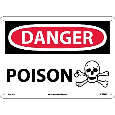 Danger, Poison, Graphic, 10X14, .040 Aluminum