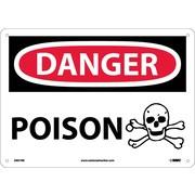 Danger, Poison, Graphic, 10X14, Rigid Plastic