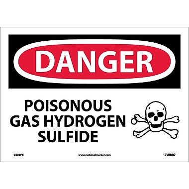 Danger, Poisonous Gas Hydrogen Sulfide, 10