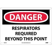 Danger, Respirators Required Beyond This Point, 10X14, .040 Aluminum
