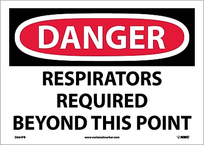 Danger, Respirators Required Beyond This Point, 10X14, Adhesive Vinyl