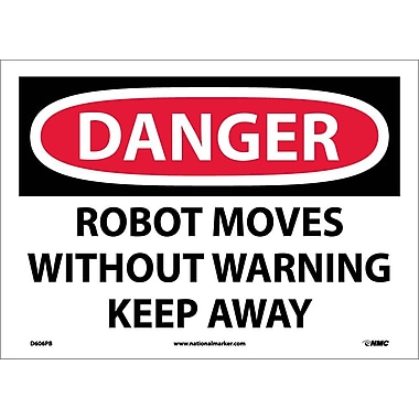Danger, Robot Moves Without Warning Keep Away, 10