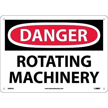 Danger, Rotating Machinery, 10X14, .040 Aluminum