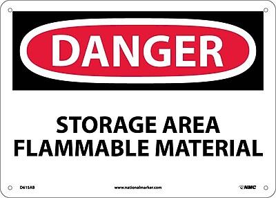 Danger, Storage Area Flammable Material, 10X14, .040 Aluminum