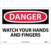 Danger, Watch Your Hands And Fingers, 10X14, .040 Aluminum