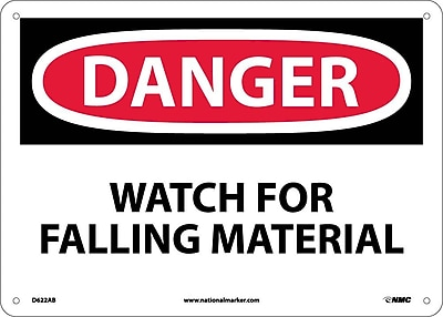 Danger, Watch For Falling Material, 10X14, .040 Aluminum