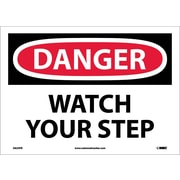 Danger, Watch Your Step, 10X14, Adhesive Vinyl