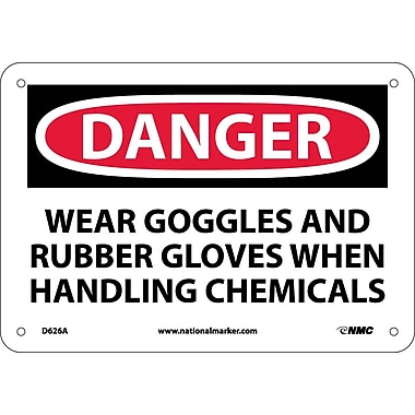 Danger, Wear Goggles And Rubber Gloves When Handling Chemicals, 7