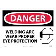 Danger, Welding Arc Wear Proper Eye Protection, Graphic, 10X14, Adhesive Vinyl