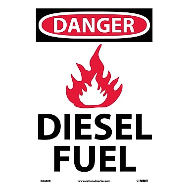Danger, (Graphic) Diesel Fuel, 14X10, Rigid Plastic