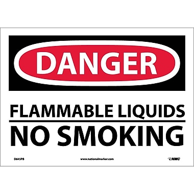 Danger, Flammable Liquids No Smoking, 10