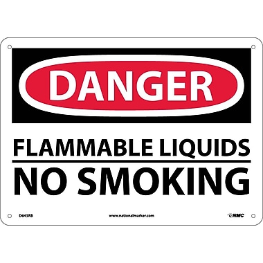 Danger, Flammable Liquids No Smoking, 10X14, Rigid Plastic