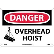 Danger, Overhead Hoist, Graphic, 10X14, .040 Aluminum