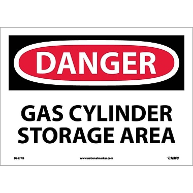 Danger, Gas Cylinder Storage Area, 10