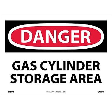 Danger, Gas Cylinder Storage Area, 10X14, Adhesive Vinyl