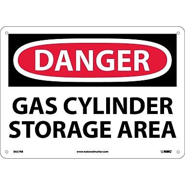 Danger, Gas Cylinder Storage Area, 10X14, Rigid Plastic
