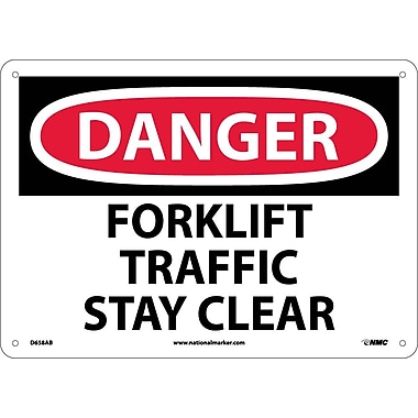 Danger, Forklift Traffic Stay Clear, 10X14, .040 Aluminum