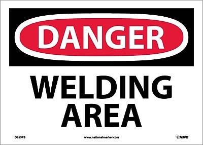 Danger, Welding Area, 10X14, Adhesive Vinyl