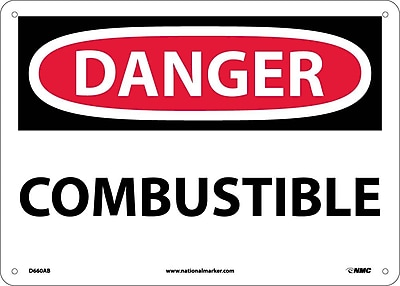 Danger, Combustible, 10X14, .040 Aluminum