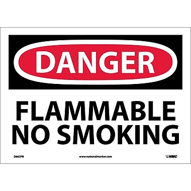 Danger, Flammable No Smoking, 10