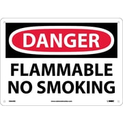 Danger, Flammable No Smoking, 10X14, Rigid Plastic