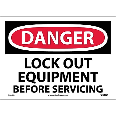 Danger, Lock Out Equipment Before Servicing, 10