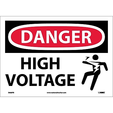 Danger, High Voltage (Graphic), 10X14, Adhesive Vinyl