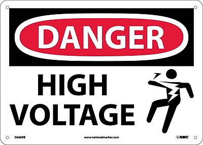 Danger, High Voltage (Graphic), 10X14, Rigid Plastic