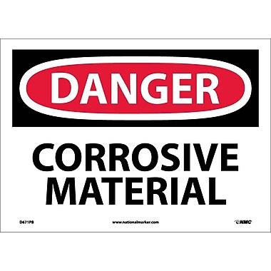 Danger, Corrosive Material, 10X14, Adhesive Vinyl