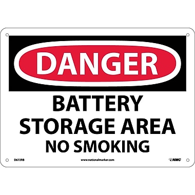 Danger, Battery Storage Area No Smoking, 10
