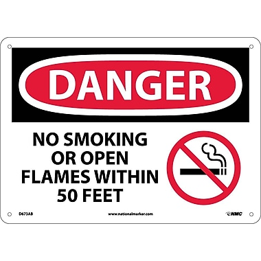 Danger, No Smoking Or Open Flames Within 50 Feet Graphic, 10